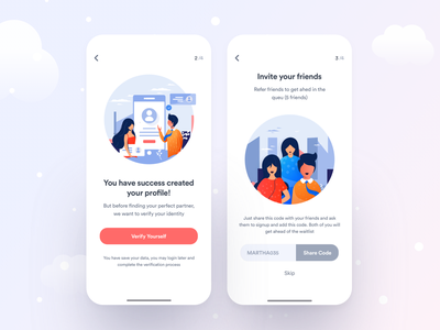 Coming on App Store : Dating App verified invite friends profile dating website datingapp dating dating app product designer product design
