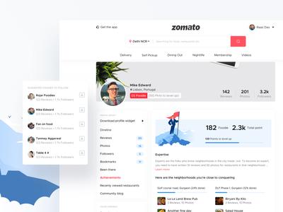 Concept Design for Zomato User Achievements