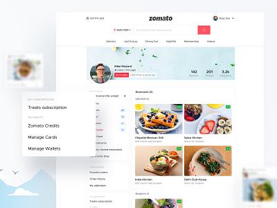 Concept Design for Zomato User Bookmarks zomato achievement zomato profile user profile dashboard dashboard design ux design dashboard ui profile profile page profile card dribbble best shot illustration