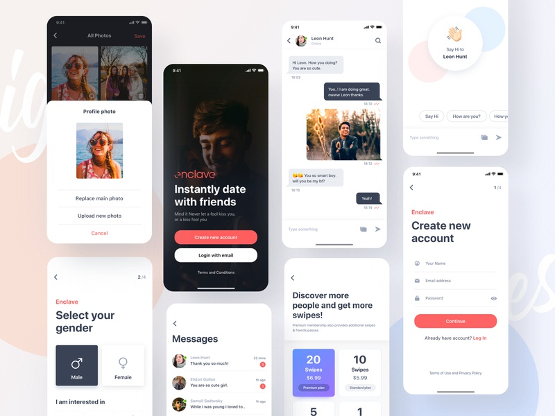 Enclave is Live branding plants dribbble best shot chat chatting chat app plan page swipe social network uinugget profile social social app dating app dating website dating datingapp enclave vector