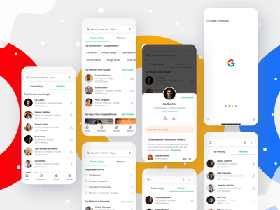 Google Mentor Problem profile design profile card profiles profile page profile google assistant google play google design google maps google ad banner google