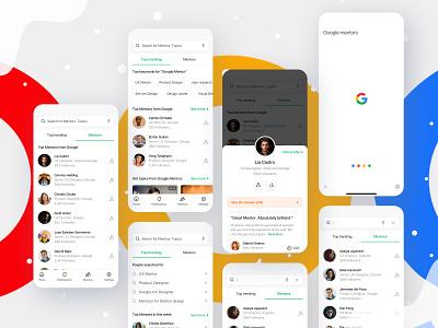 Google Mentor Problem profile design profile card profiles profile page profile google assistant google play google design google maps google ad banner google