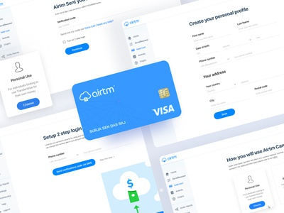 Airtm Case Study money add fund uinugget ux design debit card problem solving uxdesign casestudy airtm