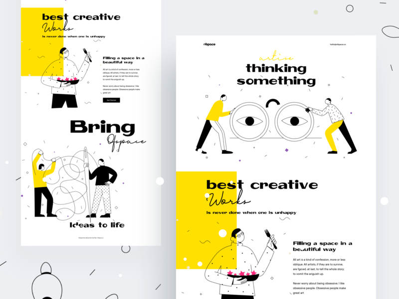 Thinking is the enemy of creativity : Vol 1 typography branding website design website webdesign landing page illustration dribbble best shot dribbble creative creative agency creative design design art design out of the box