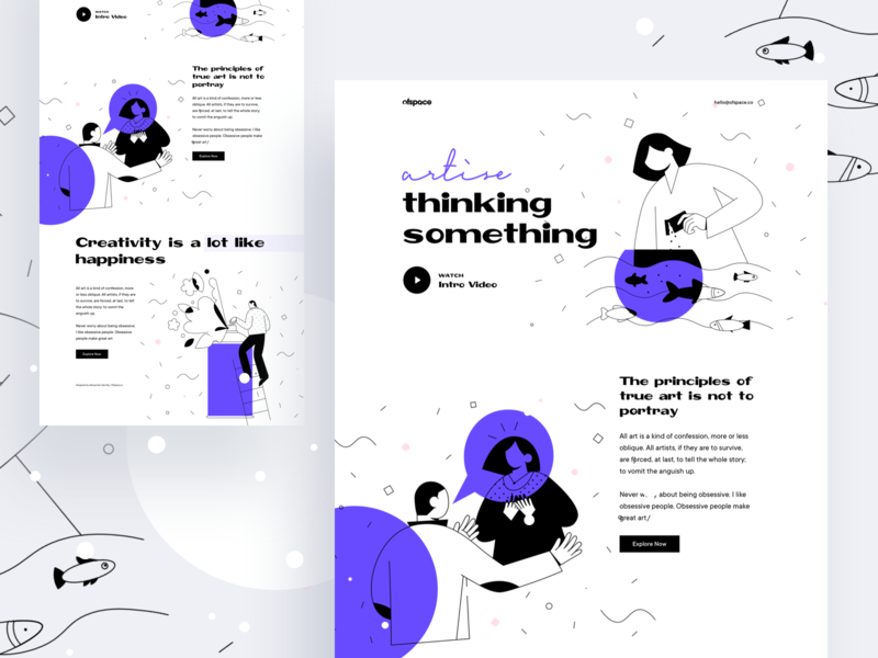 Thinking is the enemy of creativity : Vol 2 website design agency website landing  page seo agency studio google seo ux design thinking landing page creative template design dribbble best shot