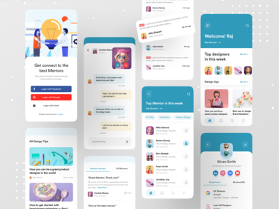 Design Mentor App typography call video call profile branding ux dribbble best shot best 2019 app app design mentorship ofspace design app google mentors mentor design