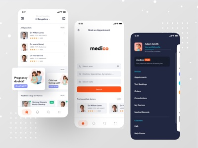 Medical App ui ux dribbble best shot ofspace health care health app healthcare health hospital app hospitals hospital medical design medical logo medical care medical app medical