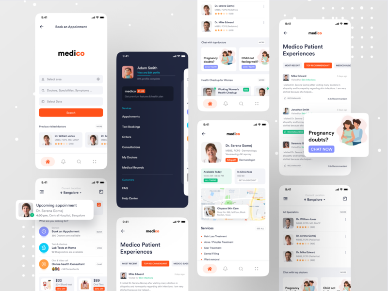 Medical App doctor app health care dribbble best shot medical care chat app ofspace inside ofspace medico health healthcare health app pregnancy medical logo hospital app hospital medical design medical app medical
