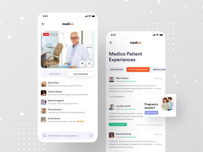 Medical App dribbble dribbble best shot pregnancy live chat patient app medico ofspace hospital health care health app healthcare healthy health live health live doctor medical design medical logo medical care medical app medical