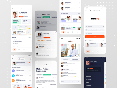 Medical App dribbble best shot ofspace hello dribbble hospital app doctor app doctor medical design medical care medical app health care health app healthy healthcare health medical