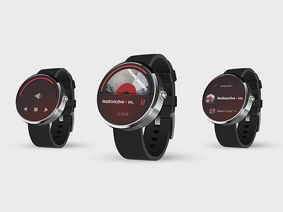PulseMusic SmartWatch Companion App solutelabs pulse ux ui music smartwatch