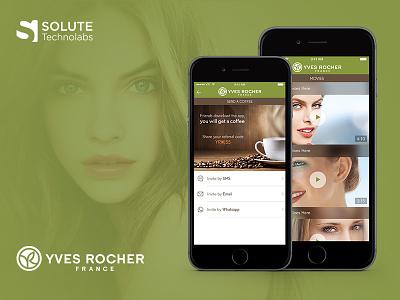 Yves Rocher ios app ux concept yves rocher ui