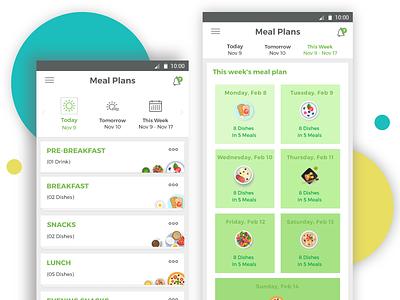 Diet App android ios fitness ux ui solutelabs diet app