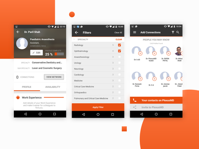 Social Network for Doctors | PlexusMD india onboarding solutelabs social network social app plexusmd