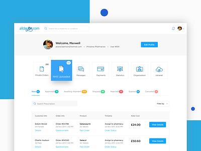 Pharmacy Dashboard solutelabs design ui ux dashboard