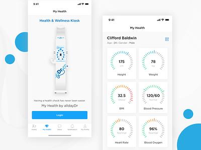 Wellness Kiosk solutelabs health app healthcare design ux ui