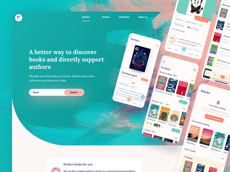 A better way to discover books abstract painting shopping authors book shop book store ecommerce shop abstract branding textures book app books