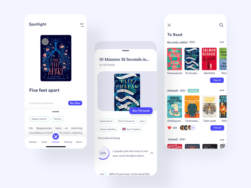 A better way to discover books book cover ebook book review book design reading clean ui clean minimal discover reading app book app
