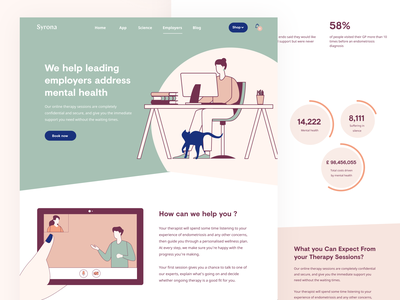 Sora website fitbit healthcare care health landing design fitness health app woman illustration landing page ui landing page