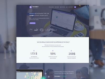 YOOBIC - Collective Intelligence app flat ui brands rob davis yoobic responsive website