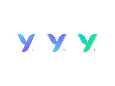 Y revision gradient gradient logo logo logo design startup