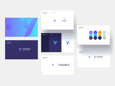 Yoobic typography clean rob davis ux ui y logo logo a day light ui guides strategy yoobic logo guides logo brand guides brand book