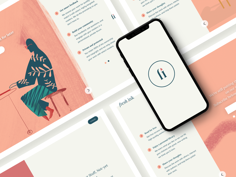 Fresh Ink reader app author app illustrations readers authors author art abstract