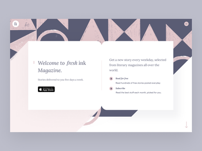 Freshink magazine abstract pattens android ios branding ux kindle reading app book app book cover magazine online magazine