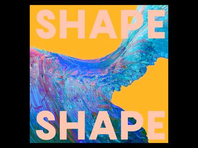 Ex.273 music cyan blue yellow growth form shape organic colorful sleeve vinyl 3d lp cd ep cover album