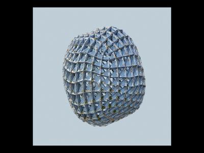 Ex.275 object blender wireframe mesh abstract music sleeve vinyl 3d art album