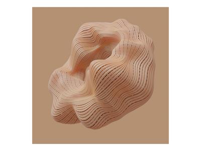 Ex.276 tissue organic design cover brown neutral blender natural 3d art album