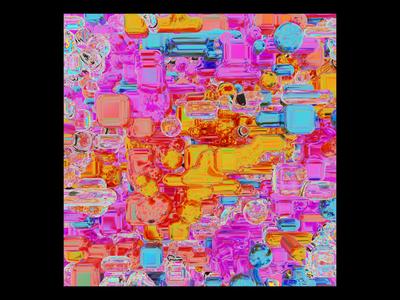Ex.277 blender 3d iridescent psychedelic rainbow colorful bright album art saturate vibrant sleeve vinyl cover art album