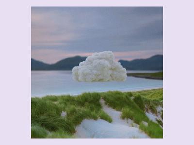 Ex.280 music sky clouds pastel grass minimal abstract cloud cd ep sleeve vinyl art cover album