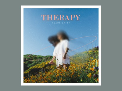 Therapy - Years Later serene woman grass field flowers single lp cd ep cover blur art album
