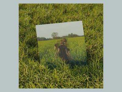 Emerald Eyes - Anson Seabra warm green blender sleeve vinyl cd lp ep art album mockup 3d grass eyes emerald