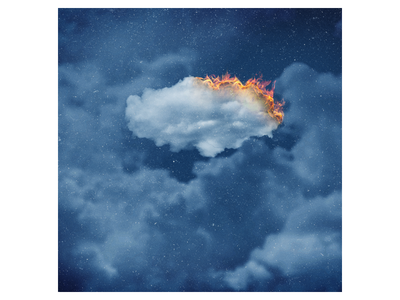 Hindenburg Lover - Anson Seabra abstract music burning flame blue sky cloud cd sleeve vinyl ep cover album