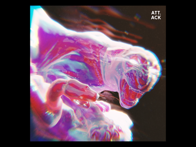 Ex.282 aberration rainbow chroma abstract 3d iridescent snake tiger blender ep sleeve vinyl cover art album