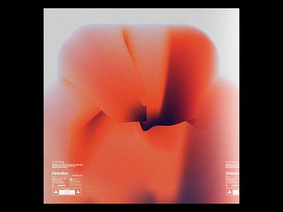 Ex.272 orange color noise gradient minimal simple lp ep music sleeve vinyl abstract art album