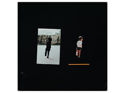 Ex.273 collage cutout minimal music sleeve simple design vinyl cover art album