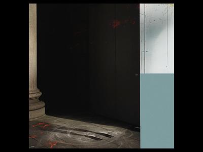 Ex.287 lighting soft muted light caustics simple abstract sleeve vinyl record canvas lp ep music art album
