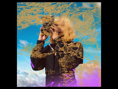 Ex.290 blur woman sky camera weird pastels simple abstract lp cd ep sleeve texture vinyl cover art album