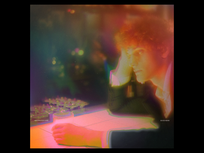 Ex.294 minimal texture grain vibrant color blur abstract random sleeve vinyl cover art album