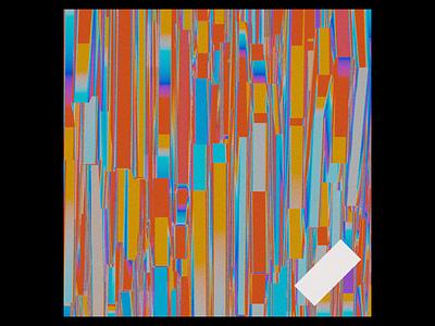 Ex.299 gradient random noise grain blender 3d shapes abstract music cd ep sleeve vinyl cover art album
