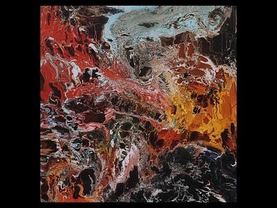 Ex.303 experimental colorful abstract liquid liquify lp ep design sleeve vinyl cover art album