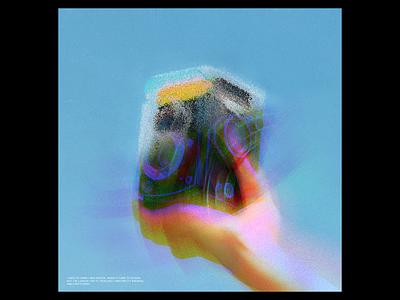 Ex.308 iridescent noise grain music lp ep design sleeve vinyl cover art abstract