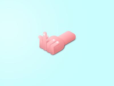 Fingah edwin carl capalla palm hand gradients isometric bird finger illustration