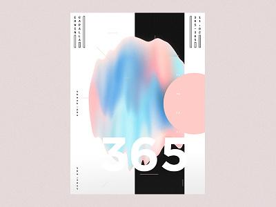 365 - Final 3d abstract amorphous art blobs challenge design everyday illustration poster