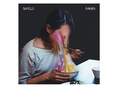 Ramen sleeve vinyl lp cd ep glitch digital abstract vibrant colorful swells ramen