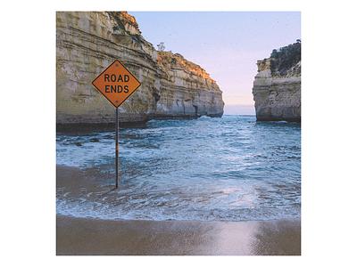 Ex.264 album cover design textured mysterious sad ocean album art illustration abstract lp ep cd sleeve vinyl cover art album