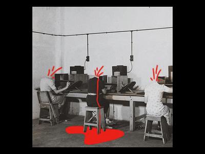 Ex.265 pixelated gore bleed head decapitated lp ep cd sleeve vinyl cover art album